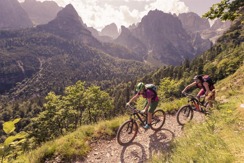 vacanza bike sulle Dolomiti Paganella