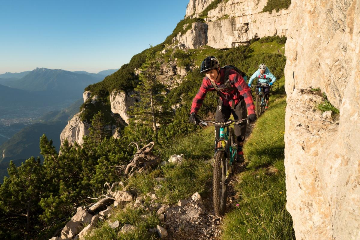 Discesa con vista Val d'Adige