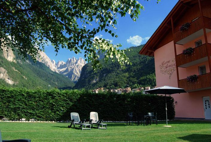 Il giardino con lo sfondo sul Gruppo di Brenta