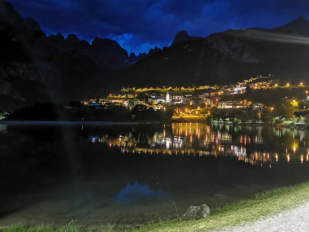 molveno e Brenta di notte dal Lago Park Hotel rid