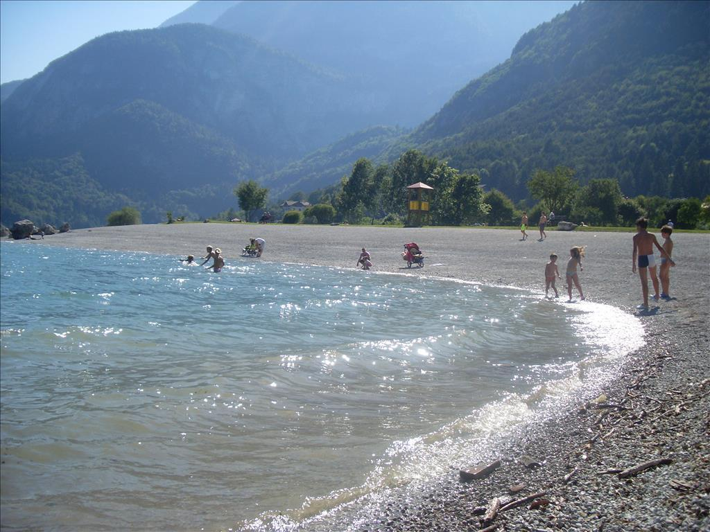Le spiagge del Lago di Molveno