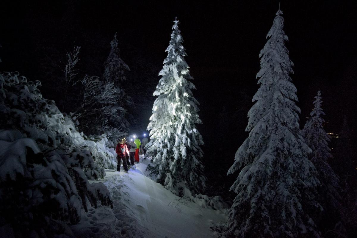ciaspolare in Trentino sulle Dolomiti Paganella