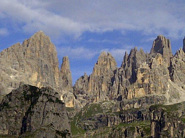 Dolomiti di Brenta vista dal rifugio