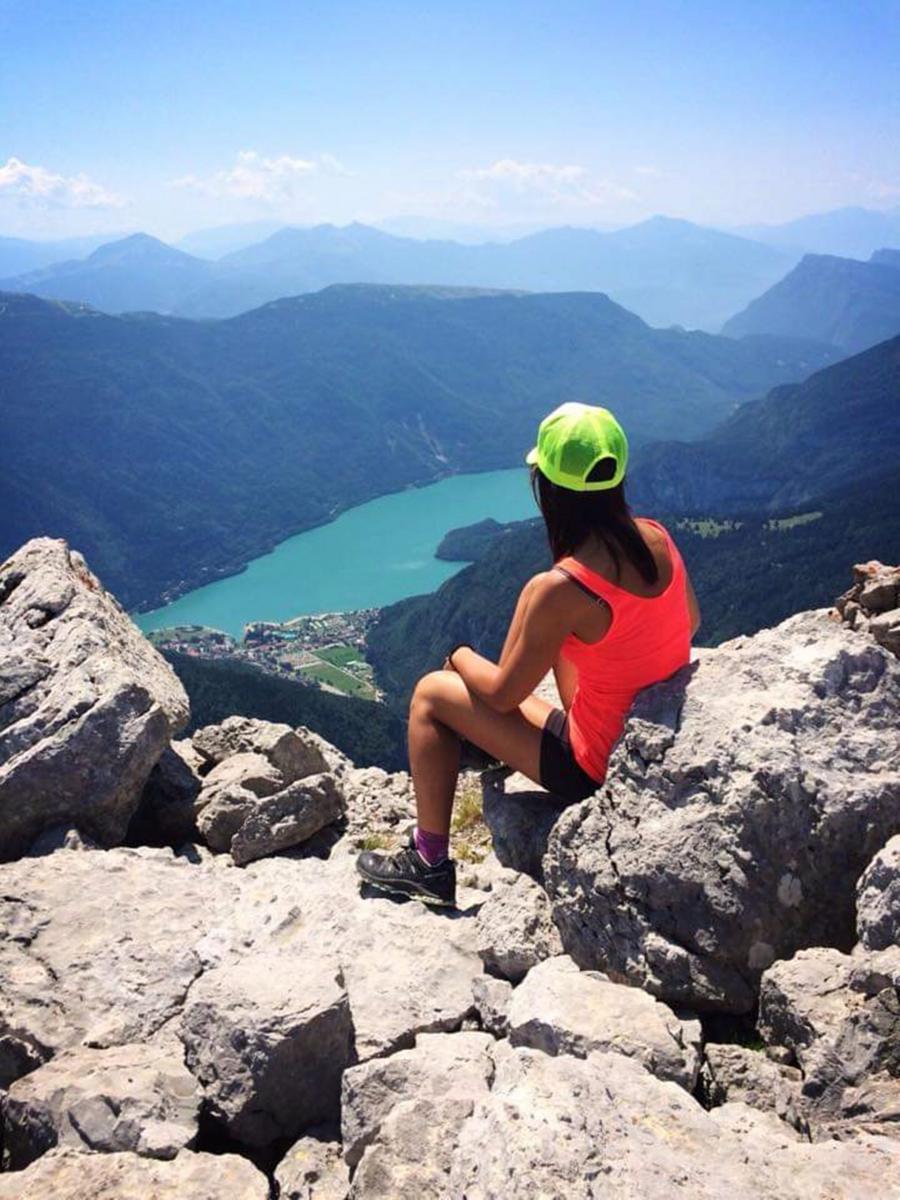 La vista del Lago di Molveno da Cima Croz dell'Altissimo