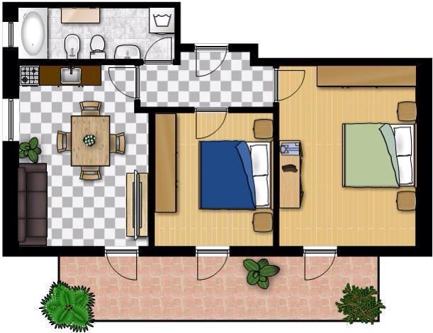 Appartamenti al Sole - Pianta
