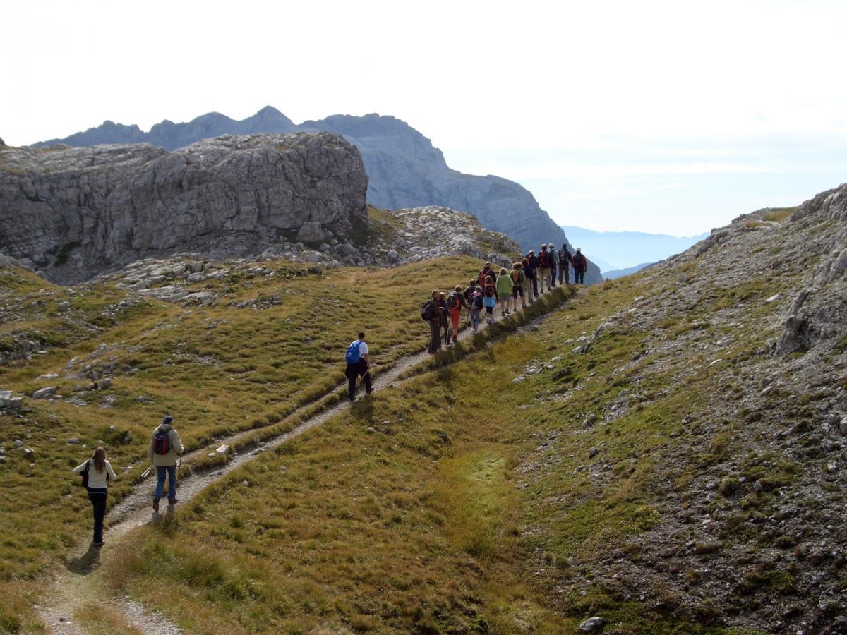 In direzione delle Dolomiti di Brenta