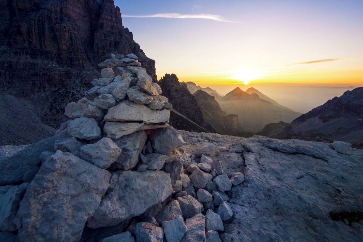 Alba sulle Dolomiti di Brenta