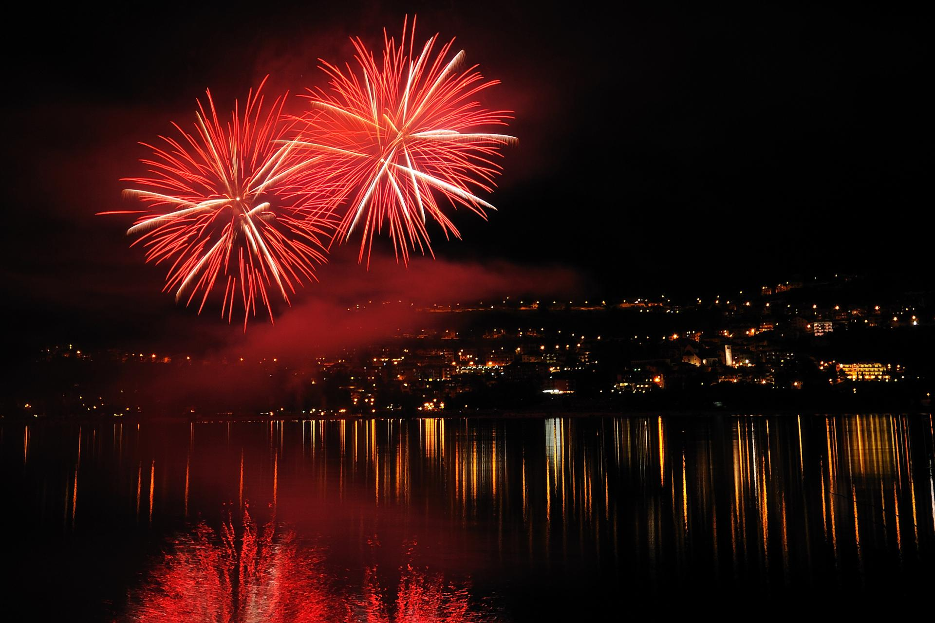 Fireworks Show in Molveno