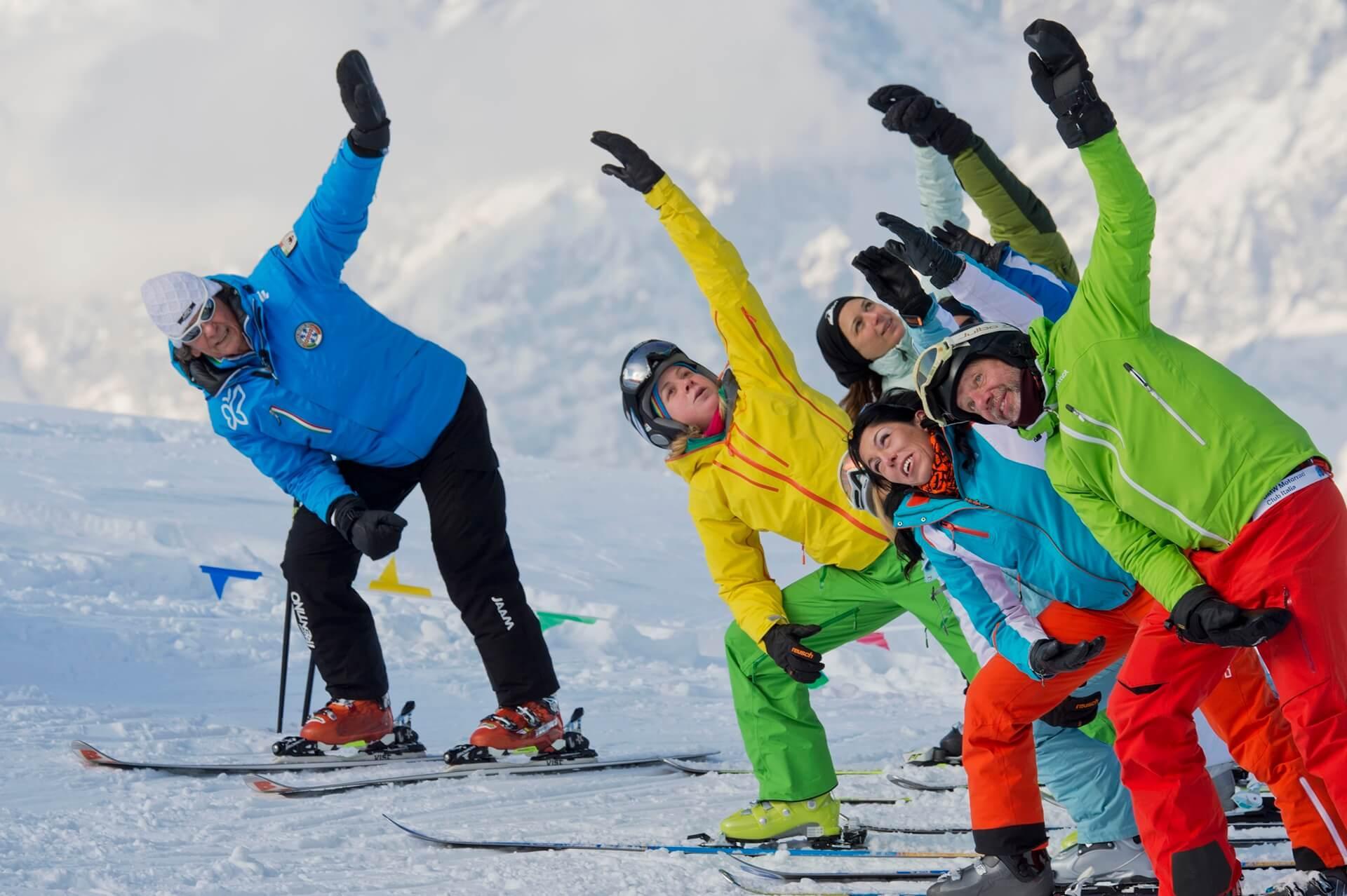 Yoga auf Ski