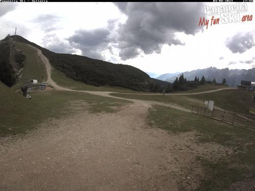 Webcam Paganella: Pian del Dosson, Snowpark e arrivo pista Nera
