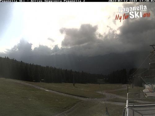 Webcam Paganella: Arrivo Seggiovia Selletta e Meriz-Selletta