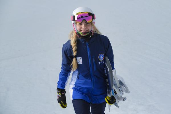 Martina, from the Paganella to the Snowboard Deaflympics