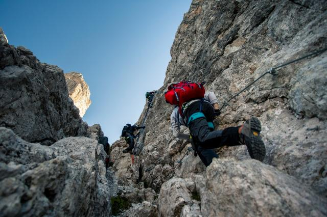 Der Klettersteig Bocchette Centrali