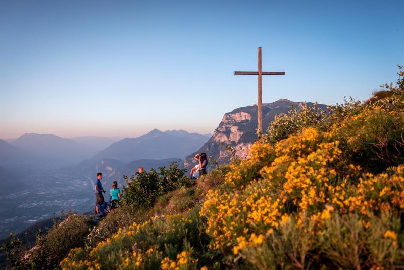 Der Sonnenaufgang auf dem Monte Fausior