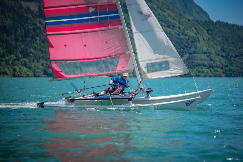 SAILING ON LAKE MOLVENO
