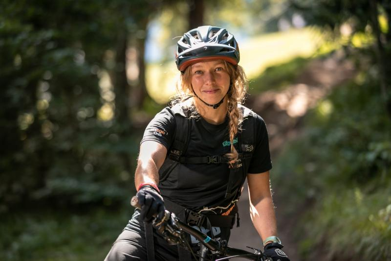 Ilenia, crazy about biking