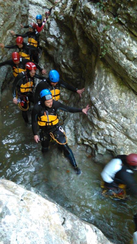 Canyoning in the Rio Briz Cavedago