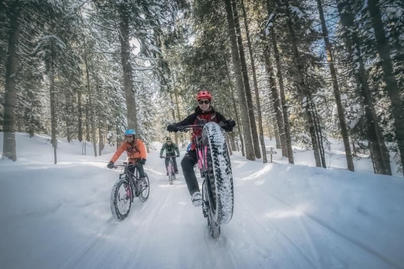 Fat bike sulle Dolomiti
