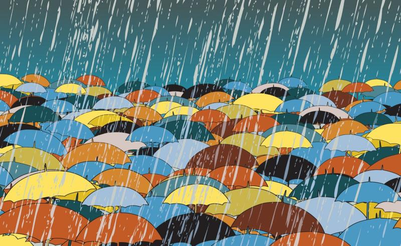 Wenn es regnet