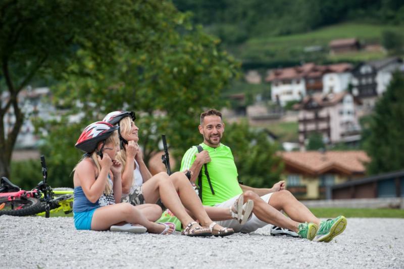 vacanza bike in famiglia in Trentino