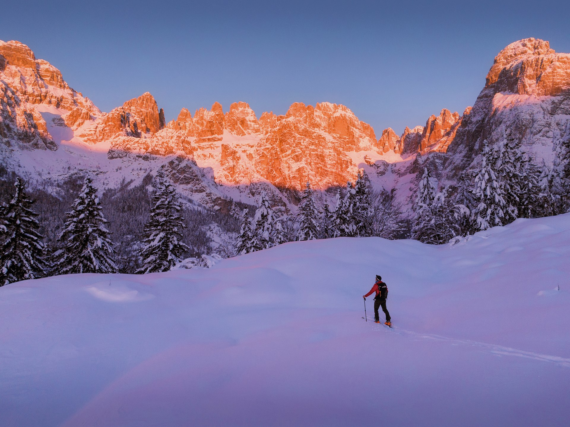 Ski Mountaineering at Sunrise
